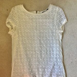 Zara lace covered blouse, short sleeved